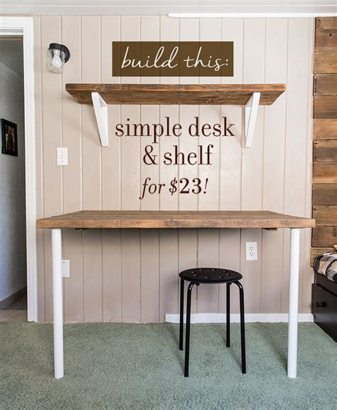 easy to make desk simple diy wall desk shelf brackets for under 23