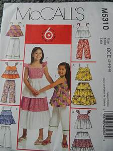 Mccalls M5310 Children 39 S And Girls Top Skirt And Pants In