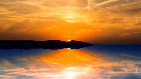 orange sunset wallpapers hd wallpapers id