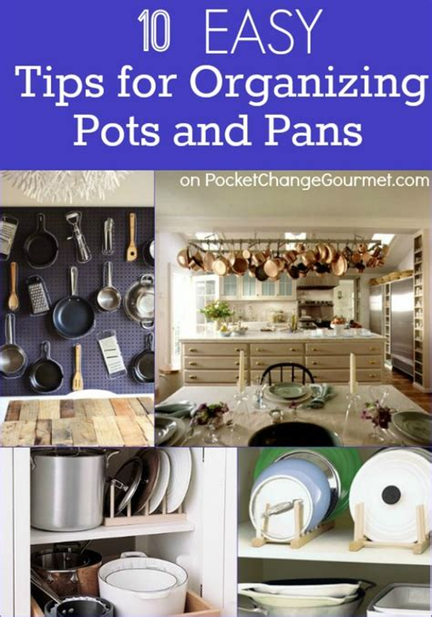 how to organize pots and pans in small kitchen tips for organizing pots and pans recipe pocket change 9923
