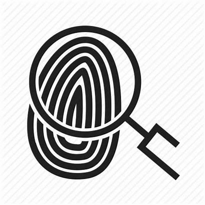 Unique Identity Fingerprint Icon Finger Thumbprint Icons