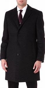 Hugo Boss Wool And Cashmere Blend Stratus Overcoat In