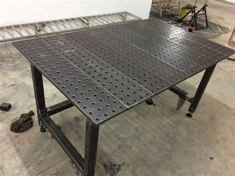 steel welding table plans new welding table i think i bit more than i can chew
