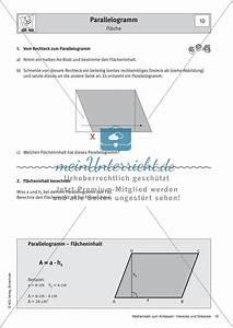 Parallelogramm Flächeninhalt Berechnen : parallelogramm eigenschaften fl cheninhalt ~ Themetempest.com Abrechnung
