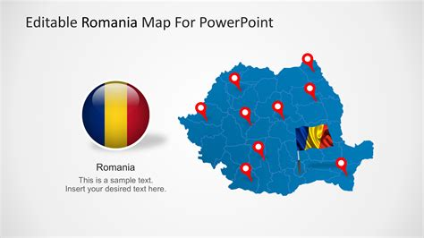 powerpoint map templates editable romania powerpoint map slidemodel