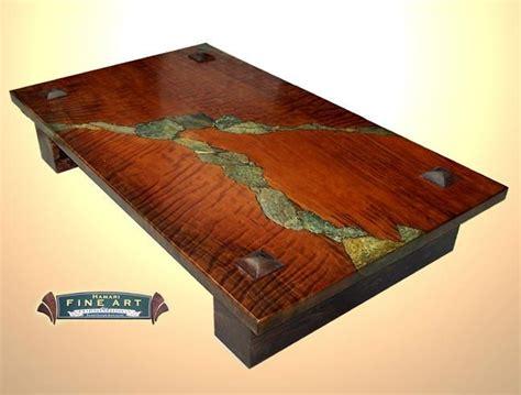 Table W Stone Inlay Wood Working Ideas Wood Slab