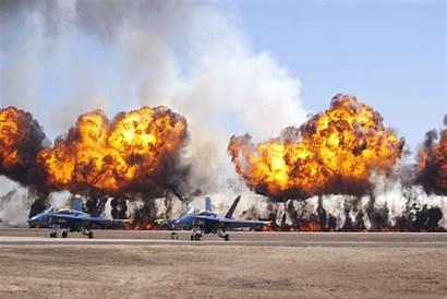 Explosion Military Jet Fighter Hintergrund Airplane Um