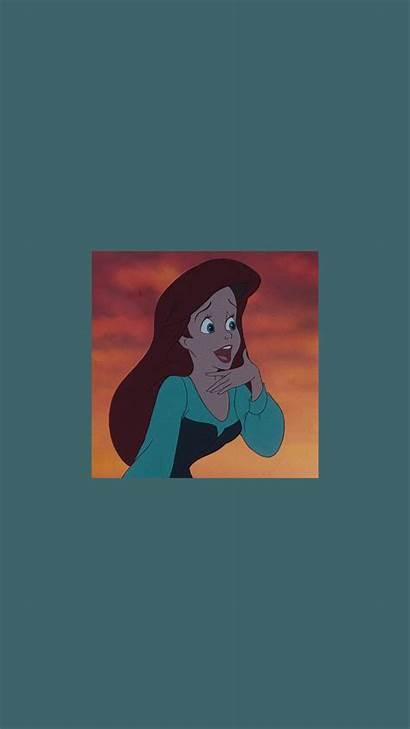 Wallpapers Aesthetic Ariel Cartoon Disney Iphone Princess