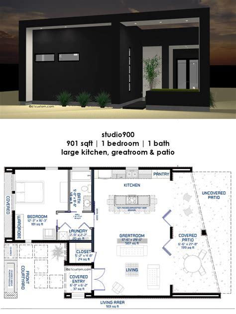 studio small courtyard house plan modern house plans modern contemporary house plans