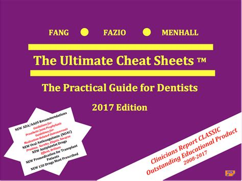ultimate cheat sheets  practical guide  dentists