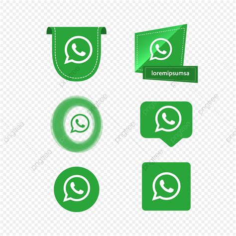 Whatsapp Whats App Icon Logo Collection Set Social Media ...