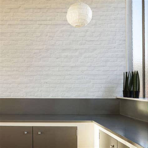 Tapisserie Brique Blanche top beautiful amazing papier peint effet briques blanches