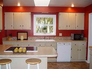 Painting of feel a brand new kitchen with these popular for Best brand of paint for kitchen cabinets with art work wall
