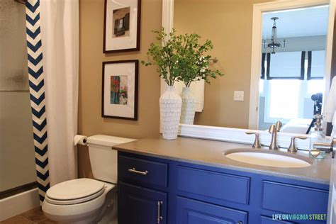 guest bathroom makeover country chic paint blog