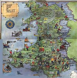Detailed tourist illustrated map of Wales | Wales | United ...