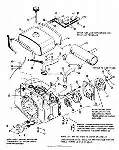 Simplicity 1690288  P T O  Parts Diagram For Engine  Front Clutch  U0026 Fuel Group