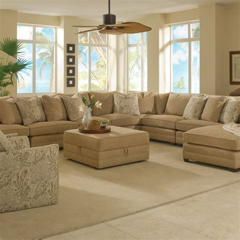 Arrange A Living Room With Large Sectional Sofas — The
