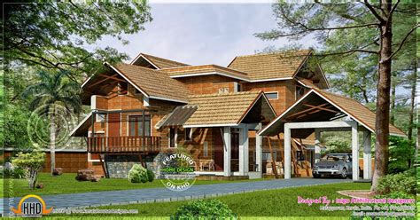 Kerala traditional laterite house - Kerala home design and