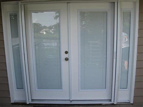 door with blinds inside door window blinds inside window treatments design ideas