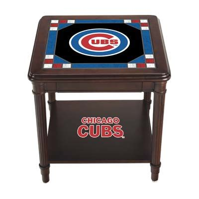 chicago cubs table l chicago cubs stained glass end table the danbury mint