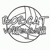 Volleyball Coloring Graphics Pages Clipart Cliparts Baseball Books Printable Clip Library Popular Bobcats Gifs Lettering Coloringhome sketch template