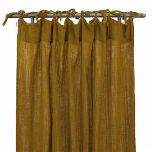 Rideau Lin Pas Cher : rideau jaune ~ Teatrodelosmanantiales.com Idées de Décoration