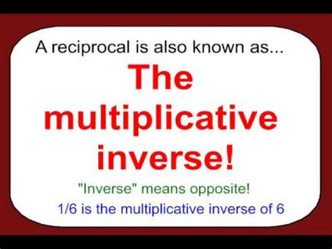 bureau invers the inverse property of multiplication