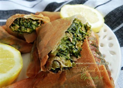 recette de cuisine marocaine choumicha boureks aux epinards et thon amour de cuisine