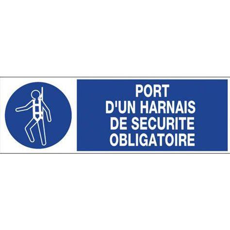 bureau de contr e obligatoire panneau d 39 obligation port d 39 un harnais de sécurité