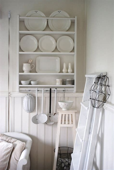 plate rack shabby white  white house home decor
