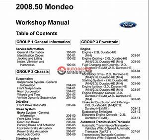 Ford Mondeo 2008-2009 Workshop Manual