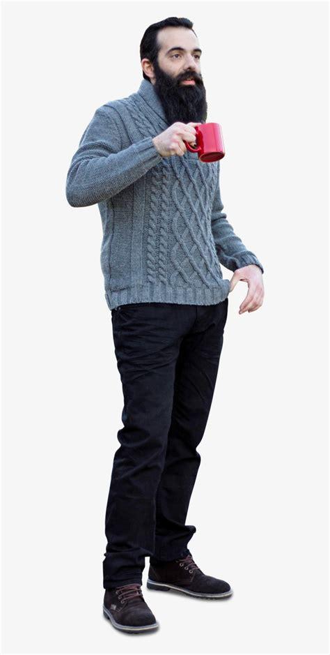 bearded man  sweater drinking cofee people cut