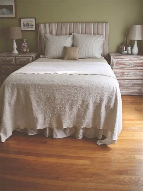 diy tablecloth headboard  beach themed bedroom
