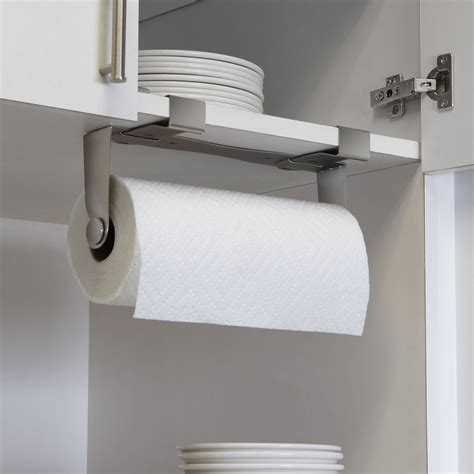 under cabinet towel holder 5 favorites the no drill instant paper towel holder