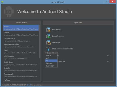 android studio version variabletech libnode android wiki project