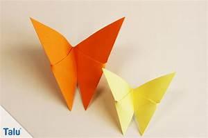 Origami Schmetterling Anleitung : origami tiere falten 12 anleitungen von leicht bis schwierig ~ Frokenaadalensverden.com Haus und Dekorationen