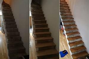 Renover Un Escalier En Bois : renover escalier bois renover escalier bois moderne deco ~ Premium-room.com Idées de Décoration