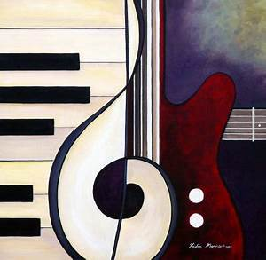 Musical Pieces - Guitar Piano Duet Painting at ...