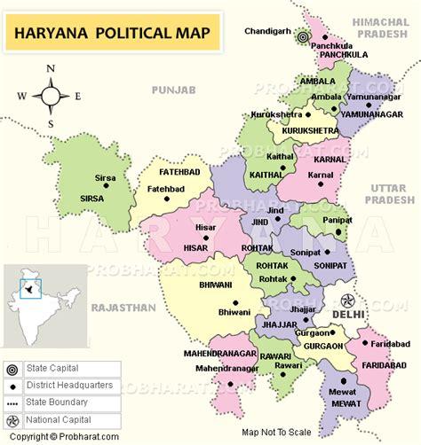 haryana mapmap  haryanaharyana state india map