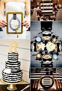 glamorous black and gold wedding inspiration
