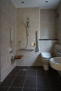 Wet room shower with disabled access disable bathroom for Wet floor bathroom designs