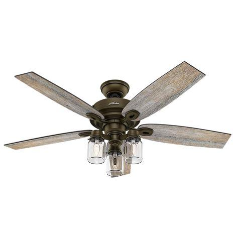 Hunt Lighting by Crown 52 In Indoor Regal Bronze Ceiling Fan