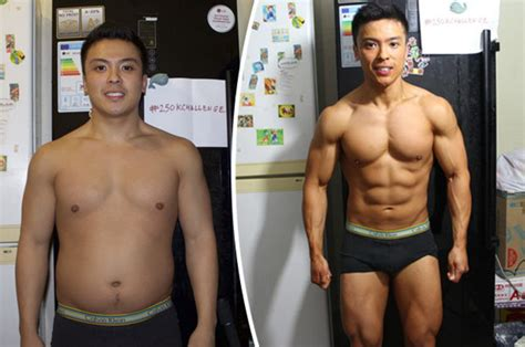 man slashes body fat   ripped  pack