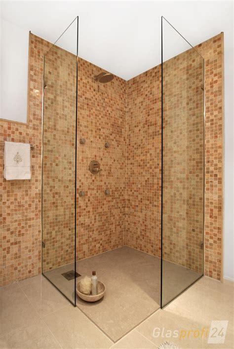 dusche aus glas ebenerdige dusche bauen aus glas glasprofi24
