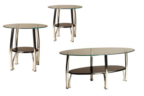 black glass end table black chrome glass cocktail table 2 end tables at