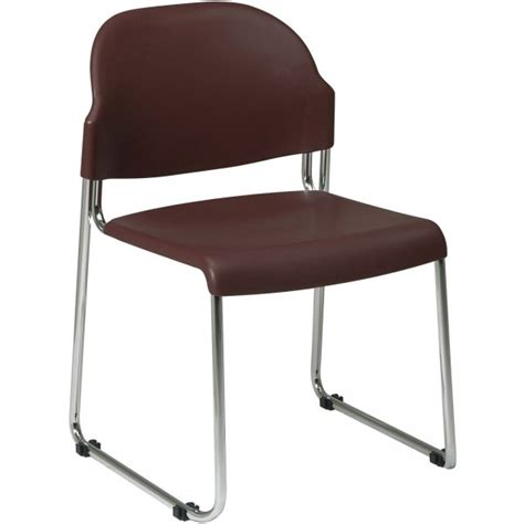 2 pack stack chair with plastic seat and back by office