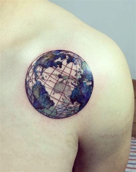 Planet Earth Tattoo  Tattoos  Pinterest  Planète Terre