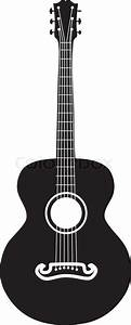 Acoustic guitar silhouette | Stock Vector | Colourbox