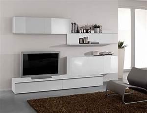 Ensemble Meuble Tv Conforama : composition tv murale design blanc laqu fortis ensemble ~ Dailycaller-alerts.com Idées de Décoration
