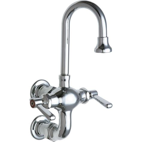 chicago faucets kitchen chicago faucets 2 handle kitchen faucet in chrome with 3 3